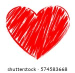 vector heart shape frame with... | Shutterstock .eps vector #574583668