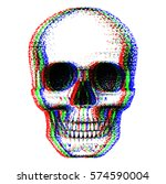 human skull painted dots  pop...