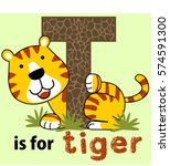 Tiger Learn To Letter Vector...