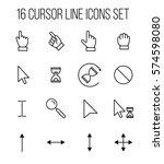set of cursor icons in modern... | Shutterstock .eps vector #574598080