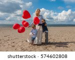 portrait of young mother and... | Shutterstock . vector #574602808