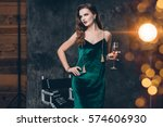 young stylish sexy woman on... | Shutterstock . vector #574606930