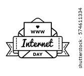 world internet day emblem...   Shutterstock . vector #574611334