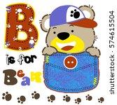 bear learn to letter vector... | Shutterstock .eps vector #574615504