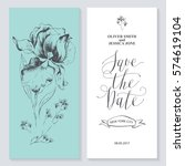 template rustic wedding... | Shutterstock .eps vector #574619104