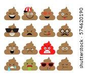 set of cute poop  happy poop ...