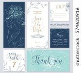 template rustic wedding... | Shutterstock .eps vector #574620916