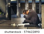 sad asian businessman losing... | Shutterstock . vector #574622893