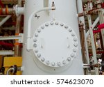 porthole to the service vessel... | Shutterstock . vector #574623070