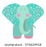 vector illustration of funny... | Shutterstock .eps vector #574624918