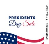 vector presidents day sale card.... | Shutterstock .eps vector #574627834