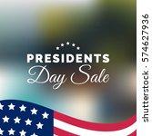 vector presidents day sale card....   Shutterstock .eps vector #574627936