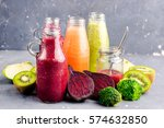 vegetables and fruit detox... | Shutterstock . vector #574632850