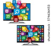 modern multimedia smart tv apps.... | Shutterstock .eps vector #574636453