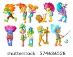 Cartoon Funny Troll Characters...