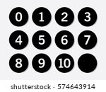 simple black circle with... | Shutterstock .eps vector #574643914