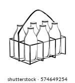 milk bottle case in black... | Shutterstock .eps vector #574649254