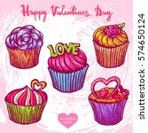 vector hand drawn color... | Shutterstock .eps vector #574650124