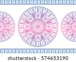 indian floral paisley medallion ... | Shutterstock .eps vector #574653190