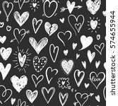 Love Pattern With Hand Drawn...