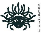medusa gorgona. vector... | Shutterstock .eps vector #574659010