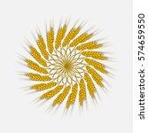 ears of wheat  barley or rye... | Shutterstock .eps vector #574659550