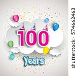 100th anniversary celebration... | Shutterstock .eps vector #574662463