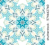 seamless pattern with ethnic... | Shutterstock .eps vector #574662760