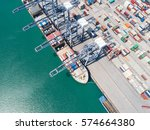 the busy of port congestion... | Shutterstock . vector #574664380