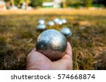 Hand Of Holding Petanque Ball....