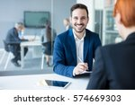 team of successful business... | Shutterstock . vector #574669303
