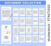 document icon collection vector ... | Shutterstock .eps vector #574671010