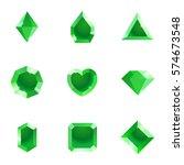 set of different shapes gems....