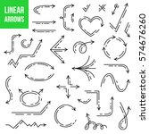 vector linear arrows set | Shutterstock .eps vector #574676260