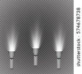 glowing pocket torch light | Shutterstock .eps vector #574678738