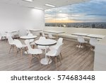 white wooden chairs in dining... | Shutterstock . vector #574683448