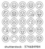 set of quality universal... | Shutterstock .eps vector #574684984