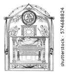tomb of cardinal jacques de... | Shutterstock . vector #574688824