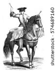 trombonist a horse  vintage... | Shutterstock . vector #574689160