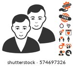 users icon with bonus dating... | Shutterstock .eps vector #574697326