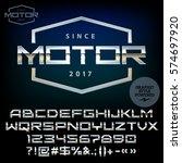 vector silver emblem for motor. ...