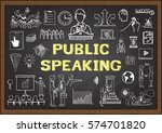 hand drawn icons about public... | Shutterstock .eps vector #574701820