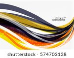 colorful wave stripes and lines.... | Shutterstock .eps vector #574703128