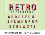 retro typography vector | Shutterstock .eps vector #574706008