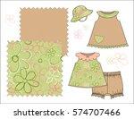 girls' fashion illustration...   Shutterstock .eps vector #574707466