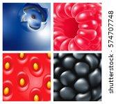 berries. close up. raspberries  ...   Shutterstock .eps vector #574707748