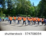 children on vacation children's ... | Shutterstock . vector #574708054