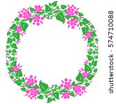 round frame  floral wreath ... | Shutterstock .eps vector #574710088