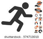 running man pictograph with... | Shutterstock .eps vector #574713010