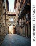 historic covered bridge in the... | Shutterstock . vector #574716784